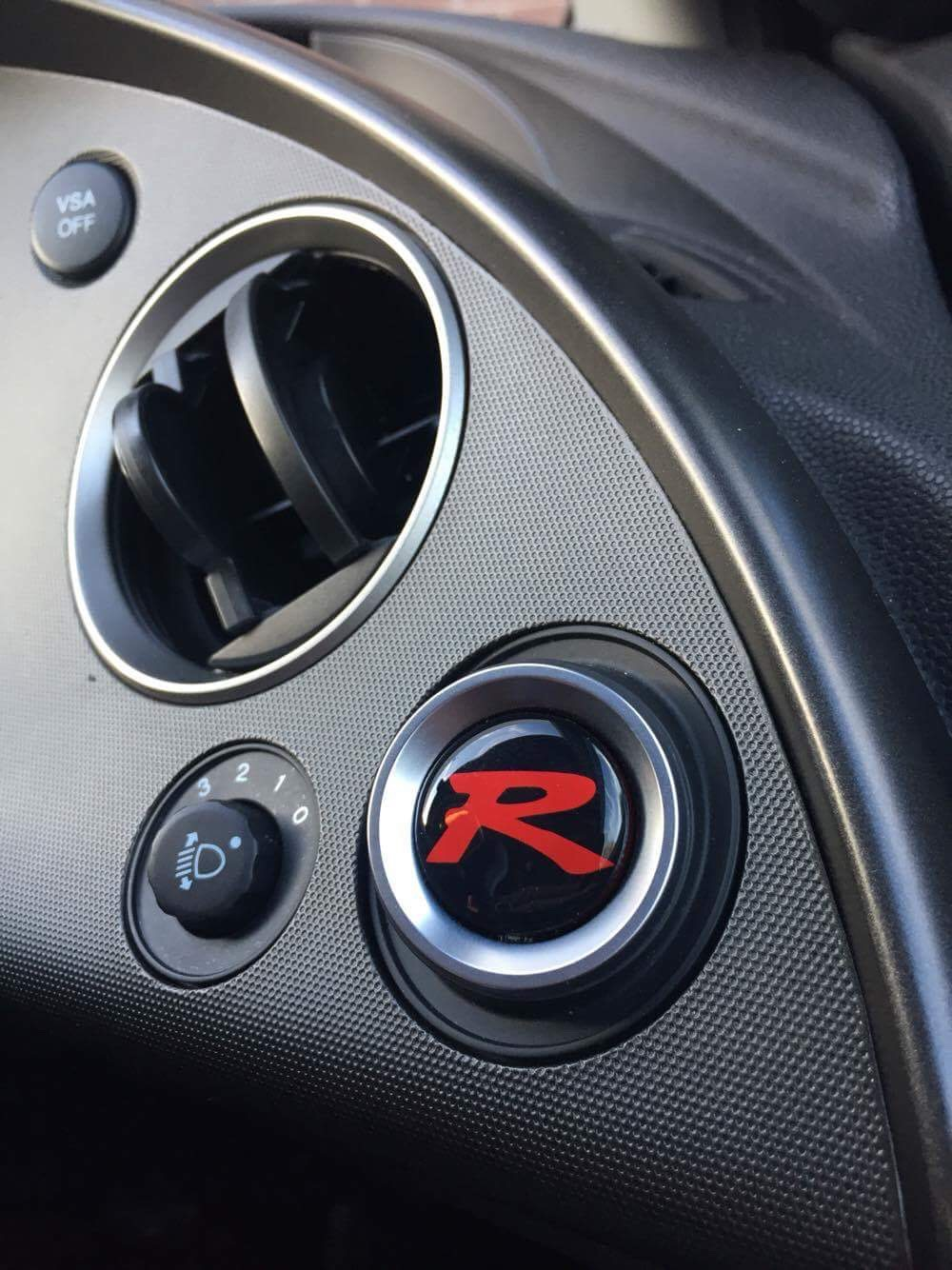 Honda Civic Type R FN2 Custom Gel Badge Overlays Steering Wheel And Push Start